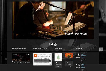 Redesigned Marc Hoffman website by BRNater Media