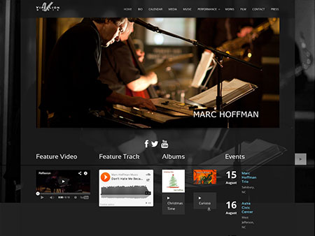 Redesigned Marc Hoffman website by BRNater Media