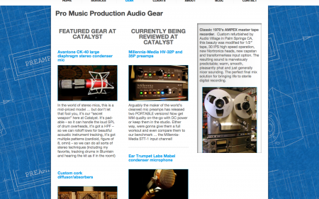 Catalyst Recording - Gear Page